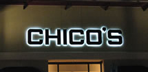 Picture of back lit custom channel letters