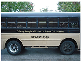 picture of vinyl bus numbers and lettering