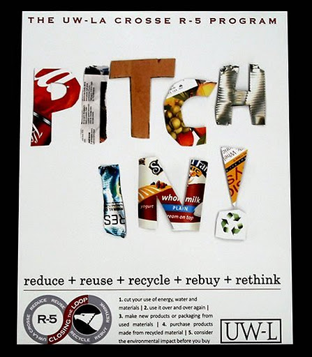 An example of a custom poster for a univeristy recycling program
