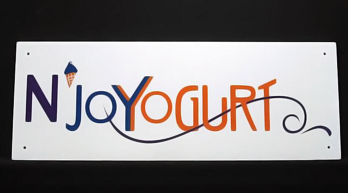A photo of a custom PVC sign