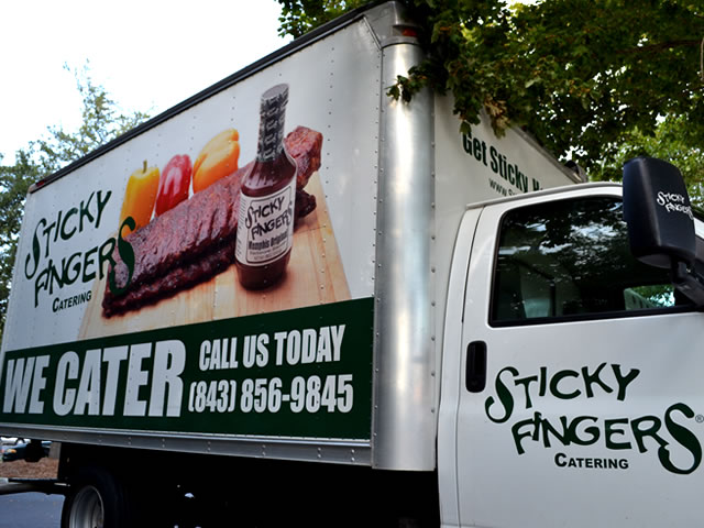 Example of Custom Box Truck Lettering & Graphics
