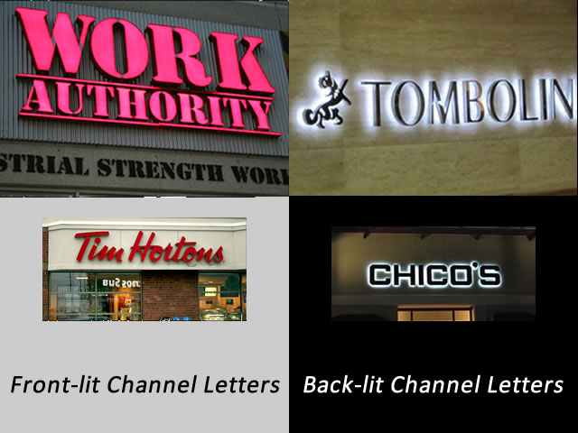 Example of Custom Channel Letter Options