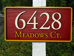 Example of a HDU Street Sign