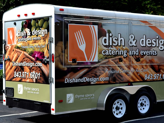Example of Custom Enclosed Trailer Lettering & Graphics