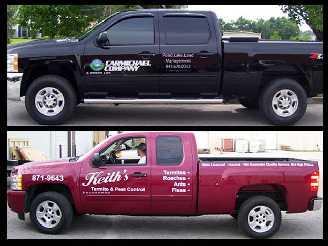 example of custom truck lettering graphics