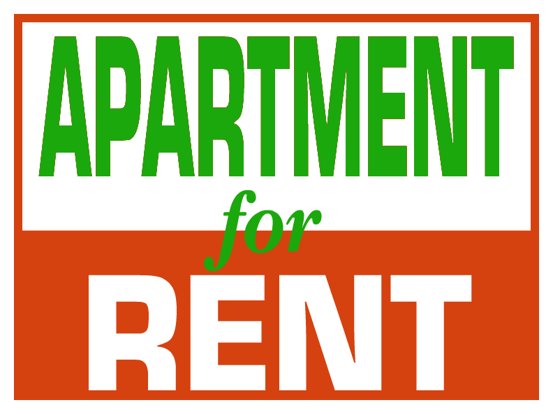 Browse for rent yard sign templates