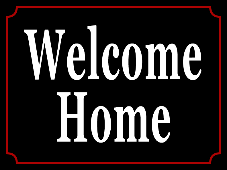 welcome home templates