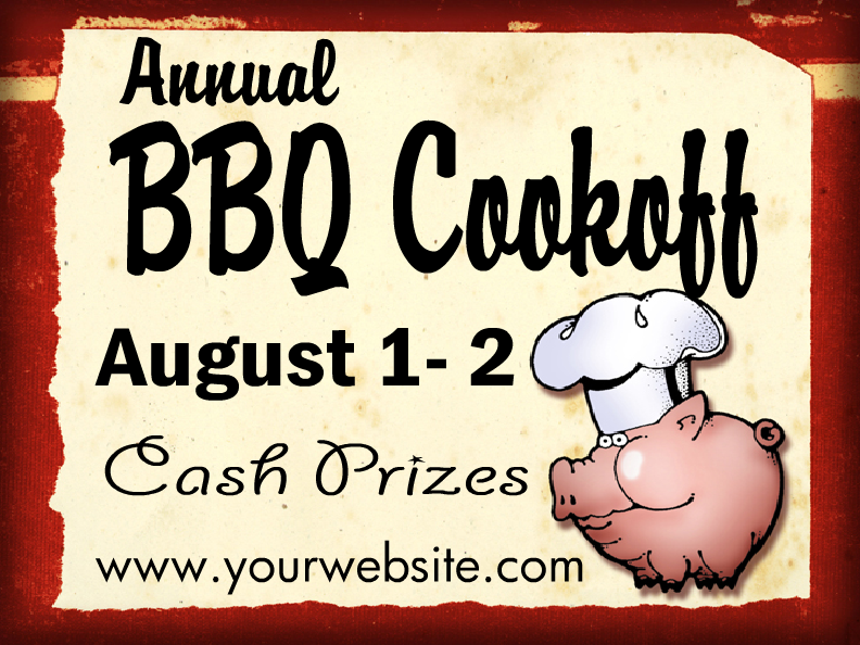 Browse bbq yard sign templates