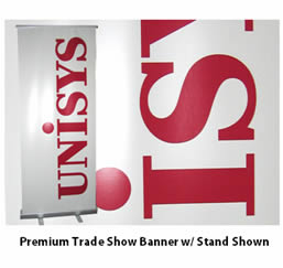 Trade show vinyl banner.