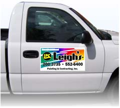 Draw immediate attention to your business with a full-color, car door Magnetic Sign