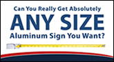 Metal Sign Size