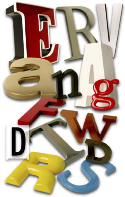 Picture of Three Dimensional Letters