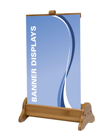 Mini Bamboo Retractable Banner Stand 8.25