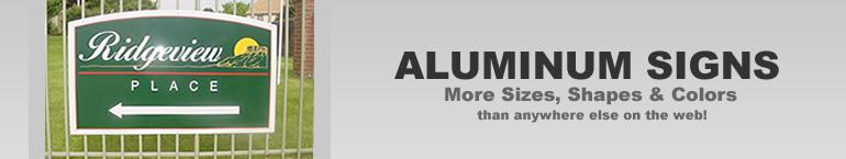 Custom Aluminum Metal Signs
