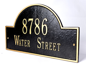 Personalized Bronze Address Plates