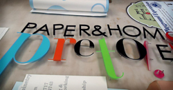 3D letters with stud mounting and acrylic pads shown
