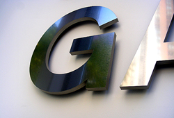 Metal letter close-up
