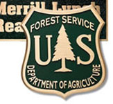Cast metal plaque - Forest Service example