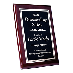 Engraved Piano Finish Plaque 6