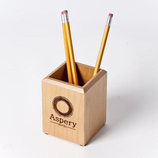 Engraved Maple Pen/Pencil Holder