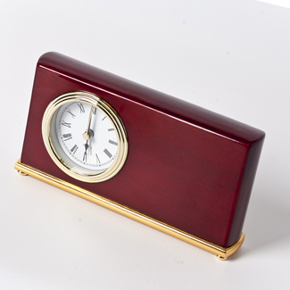 Engraved Horizontal Desk Clock