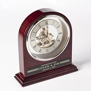 Engraved Grand Piano Arch Clock