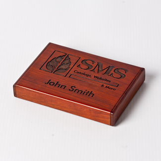 Engraved Folding Business Card Holder