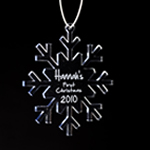 Engraved Acrylic Snowflake Ornament