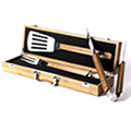 Engraved Bamboo BBQ Gift Set