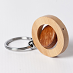 Engraved Twirl Keychain - Maple Wood