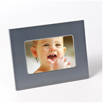 Engraved Matte Silver Picture Frame 4