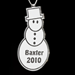 Engraved Acrylic Snowman Ornament