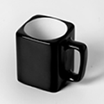 Engraved Square Ceramic Mug (BLACK) - 8oz