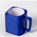 Engraved Square Ceramic Mug (BLUE) - 8oz