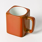 Engraved Square Ceramic Mug (ORANGE) - 8oz