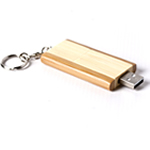 Engraved 2GB Bamboo Flash Drive Keychain