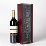 Engraved Wine Bottle Presentation Box