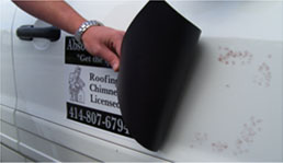 Our ScratchGuard™ Magnetic Signs will not damage your vehicle with rust or scratches