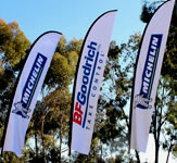 Michelin Tires Ad Flag