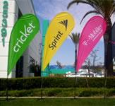Cricket and Sprint and T Mobile Ad Flag