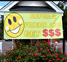 Referral Outdoor Banner