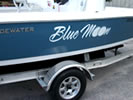 Boat Name Proudly Displayed With Vinyl Lettering