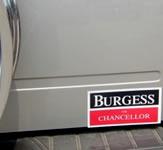 Burgess for Chancellor Bumper Sticker