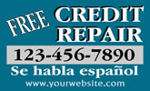 Browse credit repair business card templates