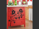 Decorative uses for vinyl, furniture decals