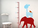 Decorative uses for vinyl, children growth charts