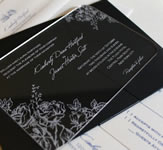 Engraved Acrylic Invitation