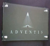 Adventis Engraved Acrylic Sign
