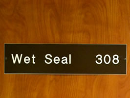 Example of engraved plastic sign