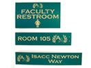 Browse engraved plastic signs